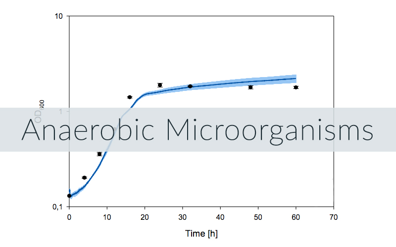 Example of a CGQ growth curve for an anaerobic organism