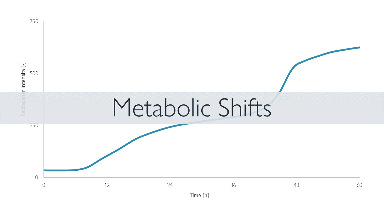 Example of a CGQ BioR growth curve revealing a metabolic shift in yeast growth